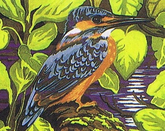 British Made Kingfisher Punch Needle Embroidery Kit by Webster's