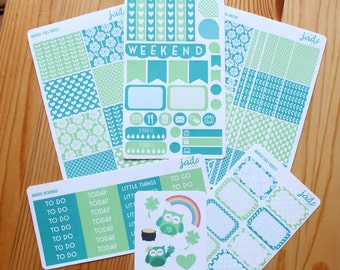 March Colour Co-Ordinating Planner Sticker Kit//Fits ECLP Vertical