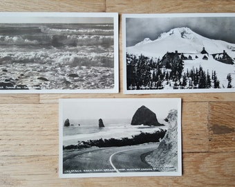 Lot of vintage real-photo postcards from Oregon