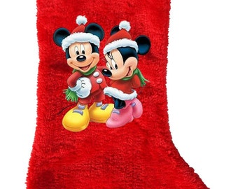 Christmas Stocking-Mickey and Minnie-Holiday stocking