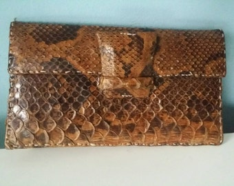 Snake leather handbag!