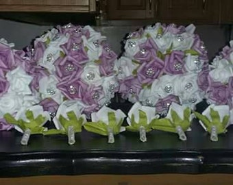 Bling rose bouquets