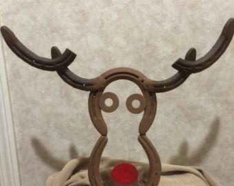 Cowboy horseshoe christmas tree for Horseshoe christmas art