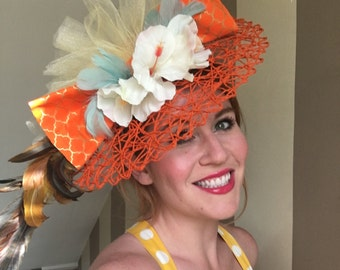 Derby Hat - Garden Party Fascinator - Wedding Fascinator