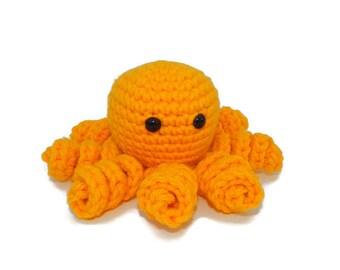 Sunflower Octo Cutie   Yellow Octopus   Amigurumi   Plushie Octopus   Crocheted Octopus   Kawaii Octopus   Mini Octopus   Fathers Day Gift