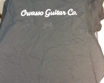 Owasso Guitar Co. U.S.A. Made T-Shirt Black