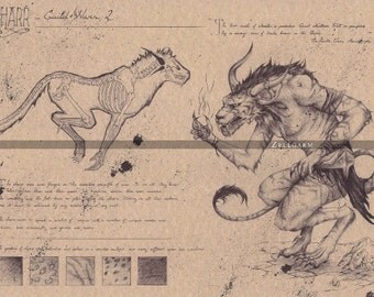 Original drawing - Charr - Guild Wars 2