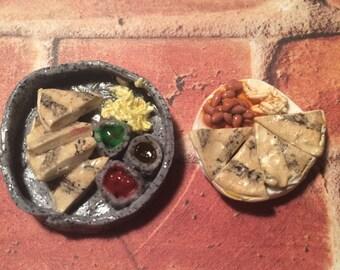 Polymer clay Miniature Food Quesadilla Meal Dollhouse Miniatures