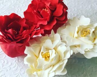 4 Peony Fondant Flowers III 4 Peony Gumpaste Flowers III Fondant Peonies Gumpaste Peonies Edible Peonies Sugar Peonies Cake Decorations