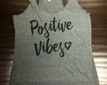 Positive Vibes- yoga-yogi-Namaste in bed Namast'ay in bed triblend tank top