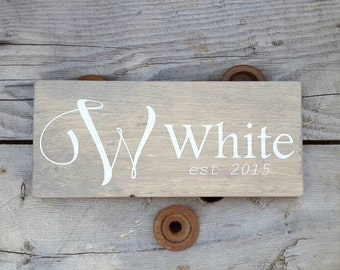 Personalized wood sign, Family name sign, Established sign, Wedding gift for couple