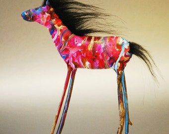 Unique Horse Art Sculpture OOAK Handmade
