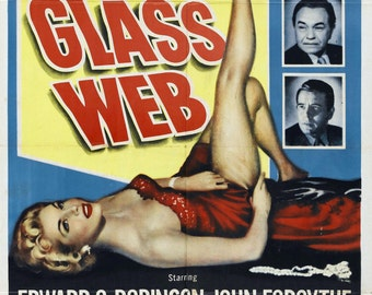 The Glass Web Movie POSTER (1953) Thriller/Drama