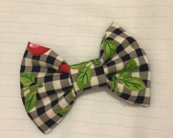 Cherry Gingham Bow