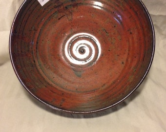 Red Bowl with Spiral Inside