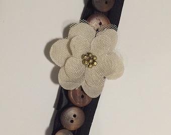 Blooming Button Headband