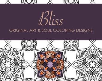 Bliss: 10 Original Coloring Designs
