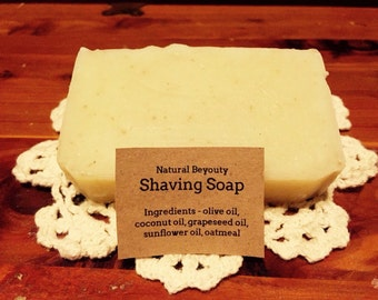 ON SALE Patchouli Shaving Soap, Luxurious lather, Cleansing, All-natural, Homemade, Cold Process Soap