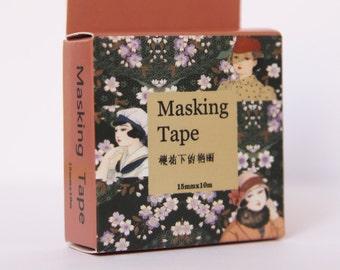 Design Washi tape women classic cherry blossoms