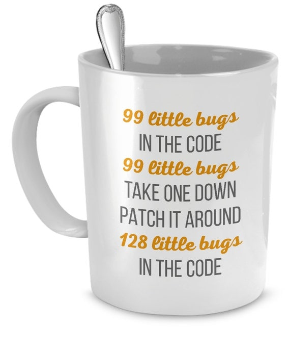 Programmer Mug Gift for Coder Coding Error List Gift Mug for Nerds Funny Coding Mug