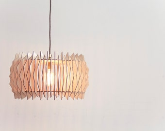 The Staggered ARC -  wooden lampshade / laser cut plywood / kitchen lamp / kitchen lighting / dining room lamp