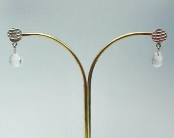 SEPIA with quartz gemstone earrings