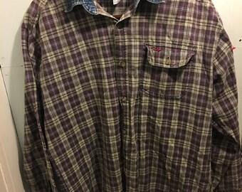 Vintage Denim Collared Flannel
