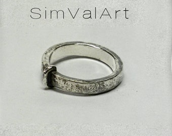 Out james and Claire key ring , Claire ring , sterling silver promise ring