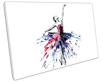 Watercolour BALLERINA Canvas WALL ART C2110