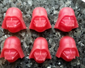 Darth Vader Soap / Star Wars Soap / Stocking Stuffer / Gift for Him / Gift for Her / Party Favor / Geeky Soap Set of 6