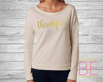 Thankful Ladies Scoop Neck Long Sleeve