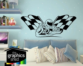 Go Kart wall sticker