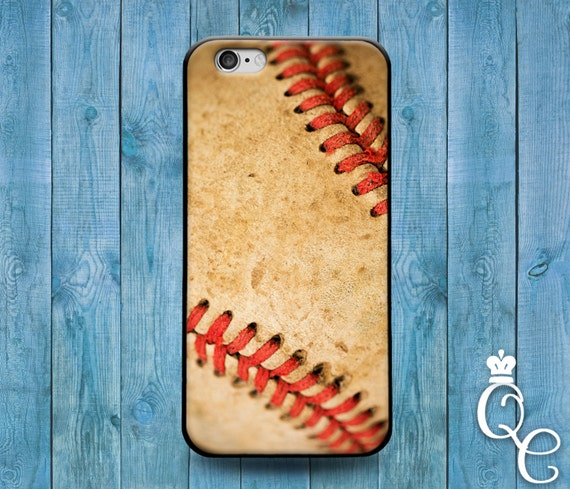 iPhone 4 4s 5 5s 5c SE 6 6s 7 plus + iPod Touch 4th 5th 6th Gen Cute Baseball Ball Texture Leather Sport Cool Phone Cover Boy Guy Fun Case