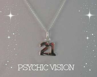 21st Birthday Charm Necklace/Silver 21st Jewelry/21st Jewellery/Ladies 21st Necklace/21st/Birthday Jewelry/21st Birthday Gift
