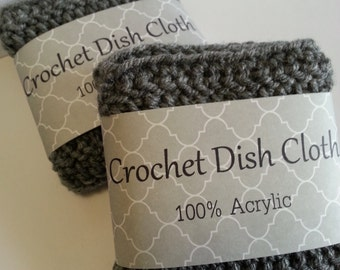 Crochet dishcloth, Crochet dish cloth, 100% Acrylic, Set of 2