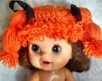 Cabbage patch hair hat MADE TO ORDER
