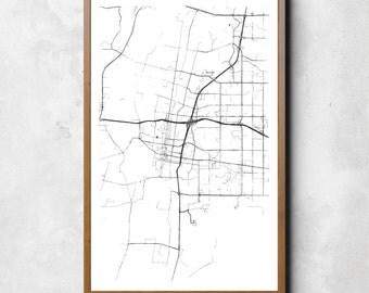 Map of Albuquerque | Albuquerque | Albuquerque Art | Albuquerque Map | Albuquerque Print | Albuquerque Decor | Albuquerque Gift