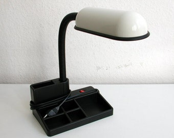 Desk lamp, desk lamp, accessories, black, white, 80s, vintage
