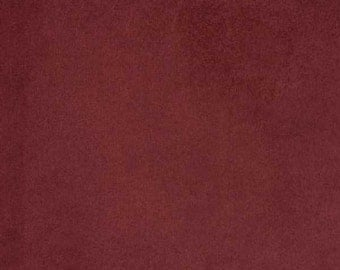 "Burgundy Luxor Soft suede 60"" Fabric by the yard"