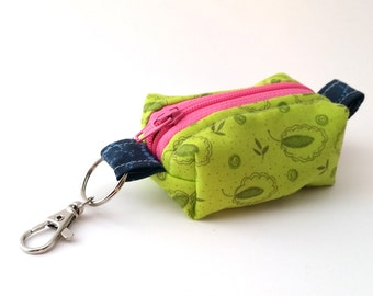 YELLOW GREEN Keychain Tiny Pouch | Mini Zipper Pouch | Coin Purse | Boxed Pouch | On-the-go Pouch