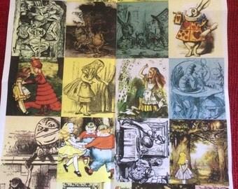 1 sheet of Alice in wonderland decoupage print - ( lewis carrol only )
