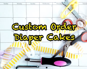 Custom 1-2-3-4 Tier Diaper Cake