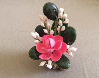 Vintage Natural Sea Shell Art Flower Bouquet Decoration