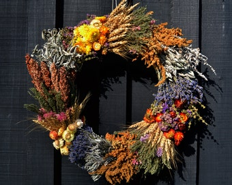 Dried Flower and Herb Wreath #1