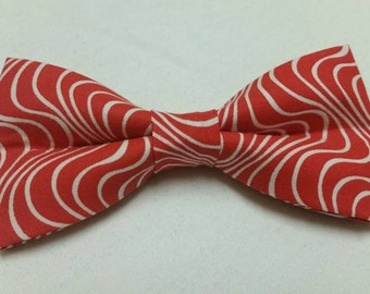 Men's Bowtie in Red and White