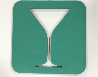 Martini Glass Coaster