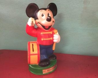 Mickey Piggy Bank Etsy