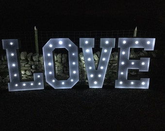 Giant 4ft love letters LED