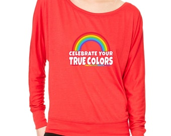 LGBT Equal Rights Long-Sleeve Love Wins Don't Afraid From Colors Flowy Shirt