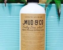 "Mud & Co. Organic Coconut Oil and Salt Water  VEGAN Body Lotion - Natural, Moisturising ""Salty Sea Air!!"""